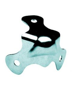 OMNITRONIC Steel plate corner, 3-leg, 30mm nickel