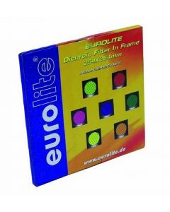 EUROLITE Yellow dichroic filter silver frame