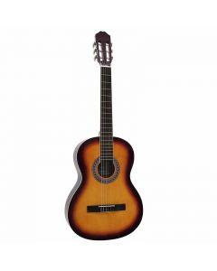 DIMAVERY AC-303 Klassinen akustinen kitara sunburst täysikokoinen 4/4