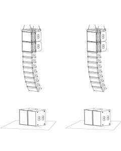 PSSO MK2 L Kompakti line array, 4x CLA-118