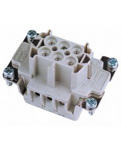 EUROLITE Socket insert 6-pole 16A, screw terminal