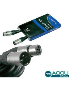 ACCU-CABLE Mikrofonikaapeli 0,5m