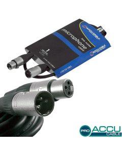 ACCU-CABLE Mikrofonikaapeli 1m