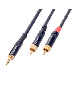 PDCONNEX Mini Plugi-RCA-adapterikaapeli 6m, Jack