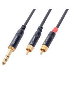 PDCONNEX Plugi-adapterikaapeli 3m, Jack Plug 6,3mm