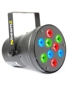 BEAMZ  LED Par 36 DMX RGB 9x 1W spotti 13 asteen kiila B-stock POISTO