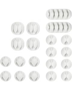 ELED -mounting piece for cables 20 pcs, white