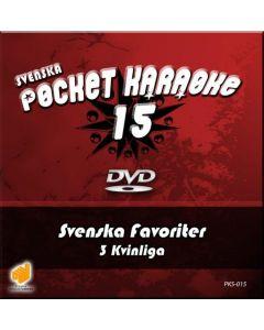 SVENSKAPOCKET Svenska Karaoke Vol 15 DVD levyllä