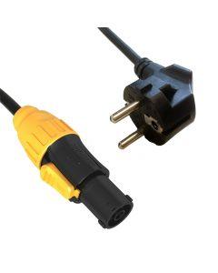 ADJ MPC IP65 Locking Power - CEE 7/7 5m  - virta Syöttökaapeli powertwist TR1