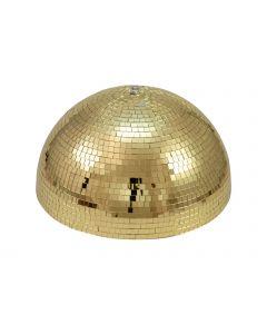 EUROLITE 50cm Puolikas kultainen peilipallo pyöritysmoottorilla