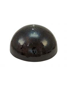 EUROLITE 50cm Puolikas musta peilipallo pyöritysmoottorilla