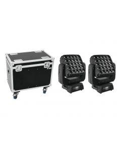 EUROLITE  paketti 2x LED TMH-X25 Moving-Head  25x12w RGBW COB LED pixel + case