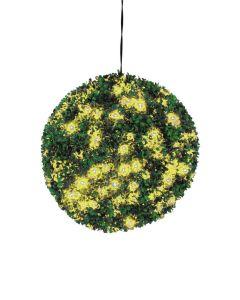 EUROPALMS 40cm Puksipuupallo LEDeillä keltainen