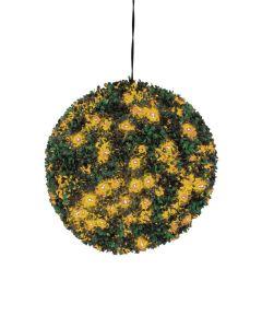 EUROPALMS 40cm Puksipuupallo LEDeillä oranssi