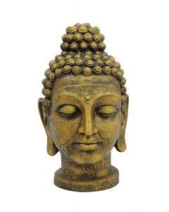 EUROPALMS Buddha-patsaan pää antiikki-kulta