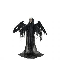 EUROPALMS Halloween Musta Enkeli 175 cm elävöitetty