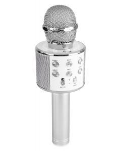 fenton-karaoke-mikrofoni-kaiuttimella-ja-bluetooth-pop-up-karaoke-hopea