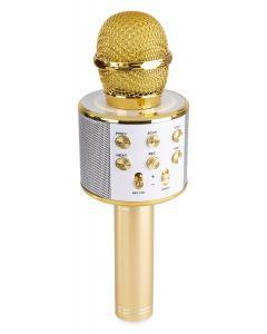 fenton-karaoke-mikrofoni-kaiuttimella-ja-bluetooth-pop-up-karaoke-kultainen