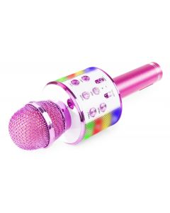 fenton km15g karaoke mikrofoni kaiuttimella-pinkki