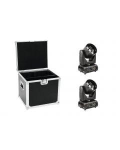 FUTURELIGHT Set 2x EYE-7 RGBW motor Zoom moving head wash OSRAM LED 7x15w + Case
