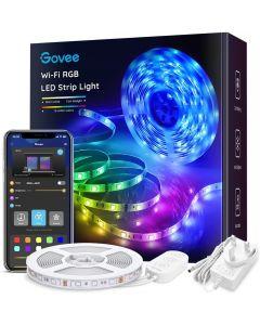 GOVEE WiFi RGB LED-nauha 5 metriä ääniohjaus toimii Alexa ja Google Assistantilla