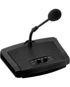 MONACOR ECM-450 pöytämikrofoni, toimii 48V tai paristoilla elektreetti 6,3 mm plugi ulos