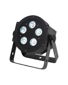 VUOKRAUS 5P HEX FLAT PAR 5x10W RGBWAUV LED spot tehokas - Musta