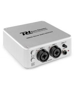 powerdynamics-pdx25-aanikortti-audio-interface-kaksi-kanavainen