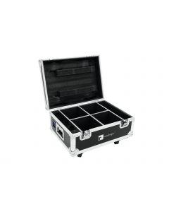 ROADINGER Kuljetuslaatikko 4x AKKU IP UP-4 QuickDMX, neljälle valaisimelle lataustoiminto kuljetuslaatikossa