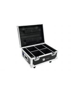 ROADINGER Kuljetuslaatikko 4x AKKU UP-4 QuickDMX valaisimelle lataustoiminnolla