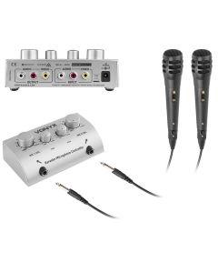 skytronic-av430-karaoke-mikseri-mikrofonit