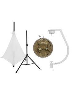 tuotepaketti-eurolite-kultainen-30cm-discopallo-standilla-ja-valkoisella-kankaalla