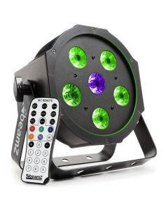 BEAMZ BFP110 LED FLAT-PAR Spotti 5x6W TRI color