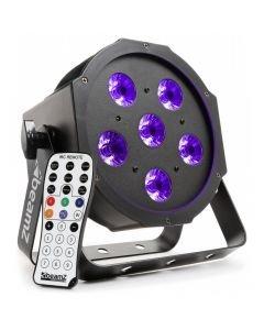 BEAMZ BFP130 LED FLAT-PAR Spotti 6x6W UV