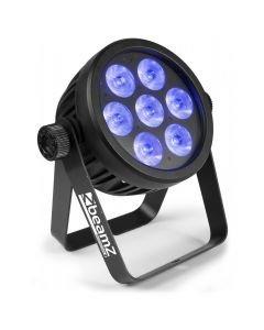 BAC500 PRO LED spot 7x14W RGBA-UV-CW/WW asennusspotti ilman tuuletinta alumiinirunkoinen