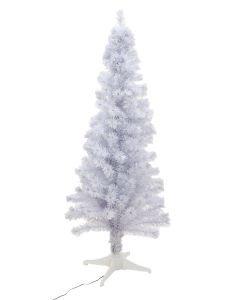 EUROPALMS 180cm Valkoinen joulukuusi kuituoptiikalla