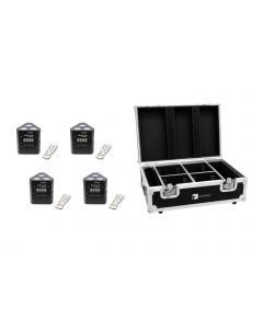 EUROLITE Set 4x AKKU TL-3 TCL + Case with charging function