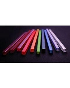 EUROLITE Tubing 10x10mm UV-active, green, 2m