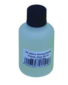 EUROLITE UV-aktiivinen neste 50ml sininen on ilman