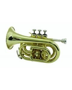 DIMAVERY Tasku trumpetti kulta Varustettu casella
