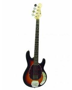 DIMAVERY MM-501 Bassokitara E-Bass, tobacco