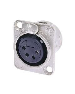 NEUTRIK NC4FD-L-1, 4-pole XLR female receptacle