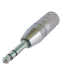 NEUTRIK NA3MP, 3-pole XLR male - stereo 1/4 plug