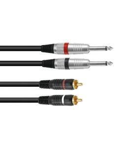 OMNITRONIC Plugi-RCA-adapterikaapeli 1,5m, 2 x