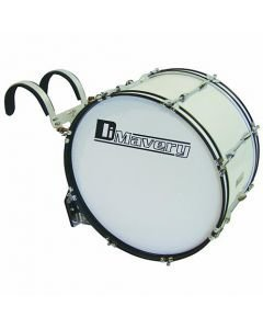 DIMAVERY MB-424 Marching Bass Drum 24x 12 white