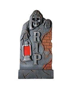 EUROPALMS Halloween hautakivi luurangolla ja lyhdyllä 91,5cm