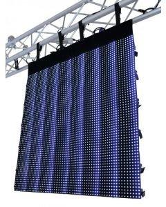 EUROLITE LED-Verho LSD-20 MK2 IP44 korkeus 2,56m x