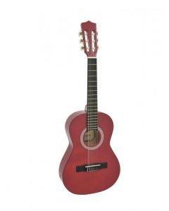 DIMAVERY AC-303 Lasten kitara punainen 85cm