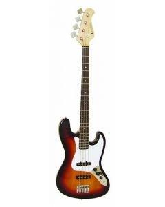 DIMAVERY JB-302 sunburst, bassokitara väri