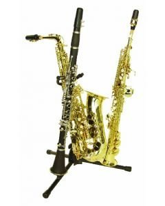 DIMAVERY Stand black for Saxophone + 2 Clarinets